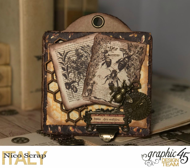 Bee tags, Botanicabella , photo 1 , by Nico Scrap, Product by Graphic 45