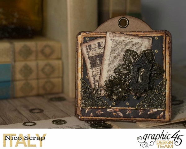 Bee tags, Botanicabella , photo 3 , by Nico Scrap, Product by Graphic 45