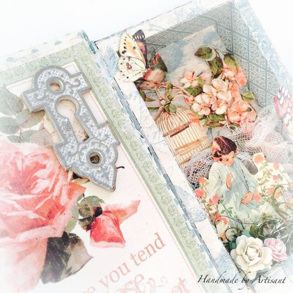 Secret Garden tiny shadow box for Graphic 45, by Aneta Matuszewska, photo 6
