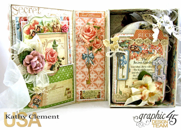 Secret Garden Tag Album in a Box Tutorial, Secret Garden, by Kathy Clement, Product by Graphic 45, Photo 1
