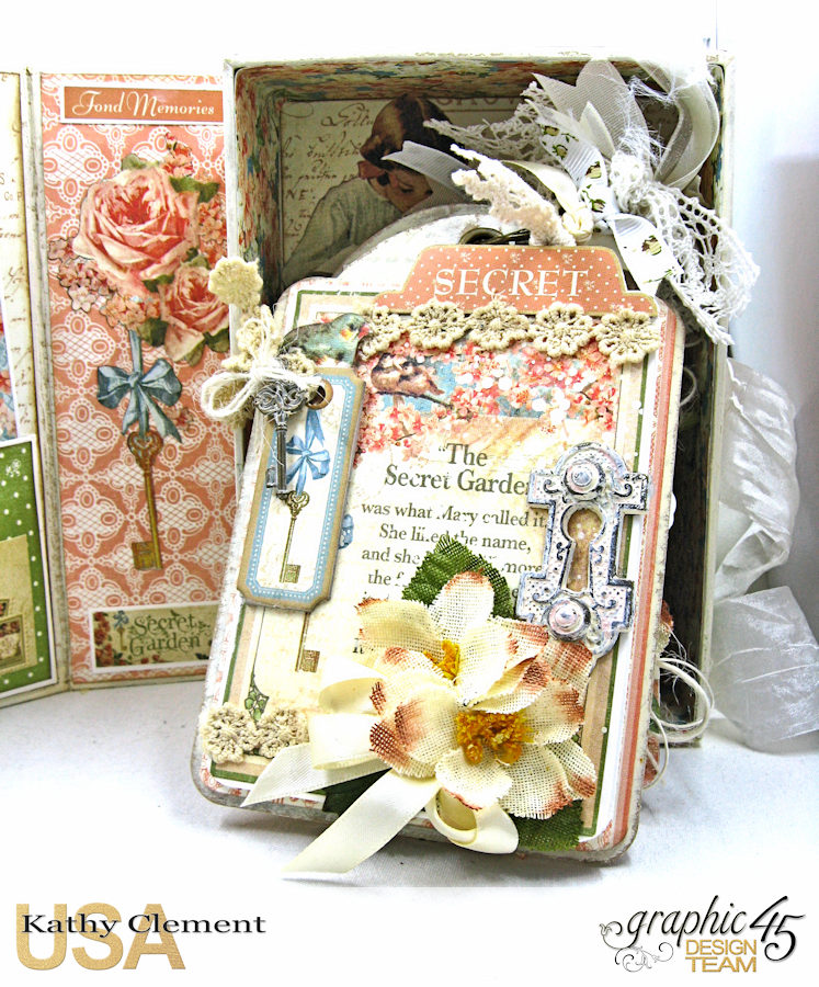 Secret Garden Tag Album in a Box Tutorial, Secret Garden, by Kathy Clement, Product by Graphic 45, Photo 2