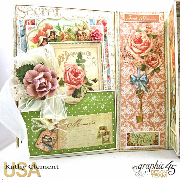 Secret Garden Tag Album in a Box Tutorial, Secret Garden, by Kathy Clement, Product by Graphic 45, Photo 5