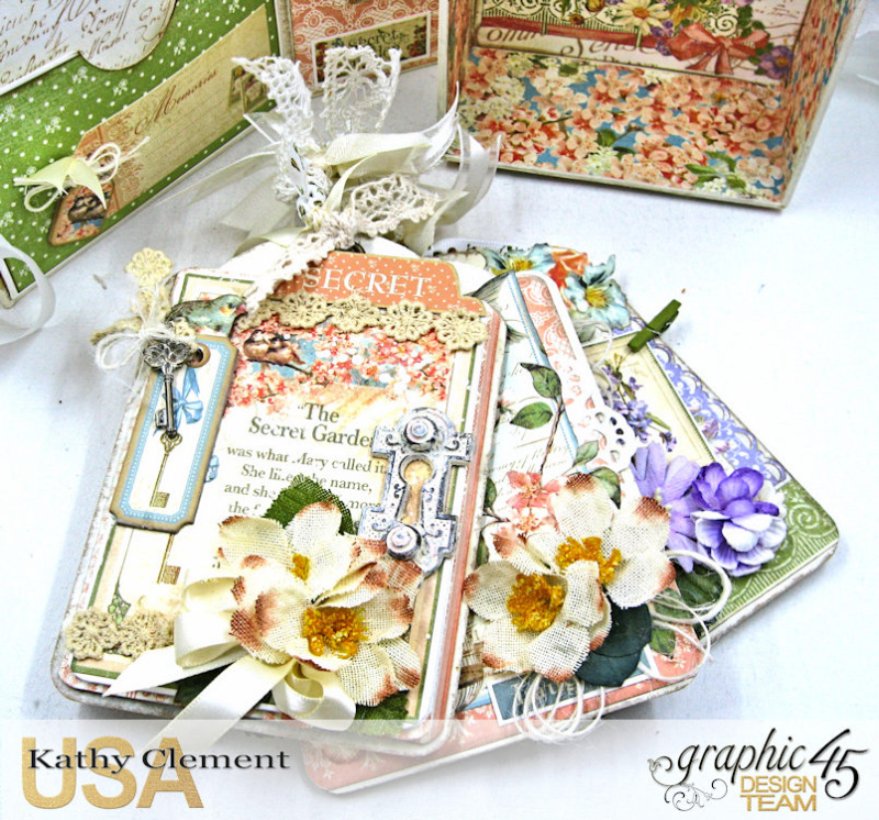 Secret Garden Tag Album in a Box Tutorial, Secret Garden, by Kathy Clement, Product by Graphic 45, Photo 9