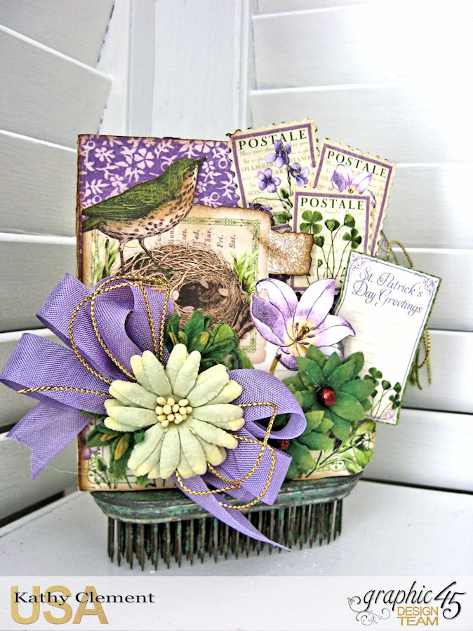 St. Patrick's Day Tag Treat Holders, Time to Flourish, by Kathy Clement, Product by Graphic 45, Photo 2