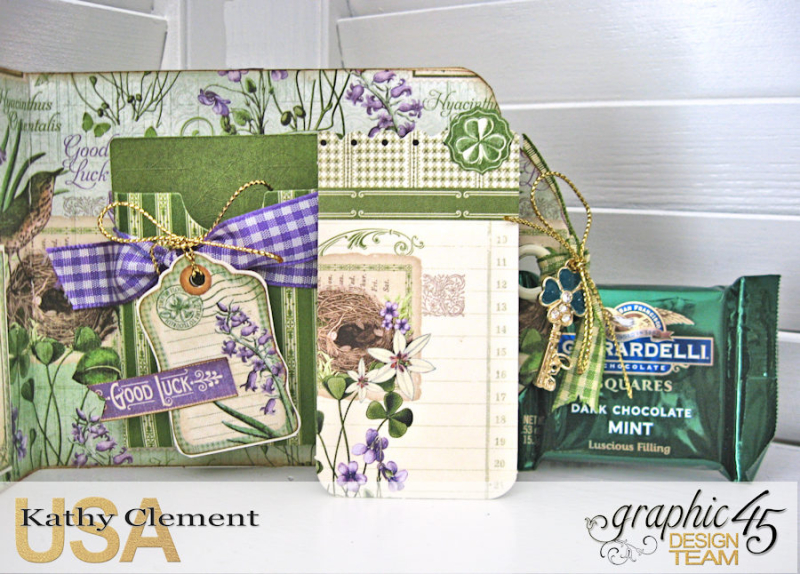 St. Patrick's Day Tag Treat Holders, Time to Flourish, by Kathy Clement, Product by Graphic 45, Photo 5