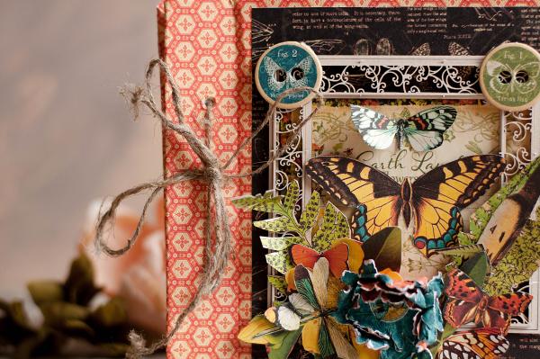 Mini album-Nature Sketchbook- Lena Astafeva-product by Graphic 45-18