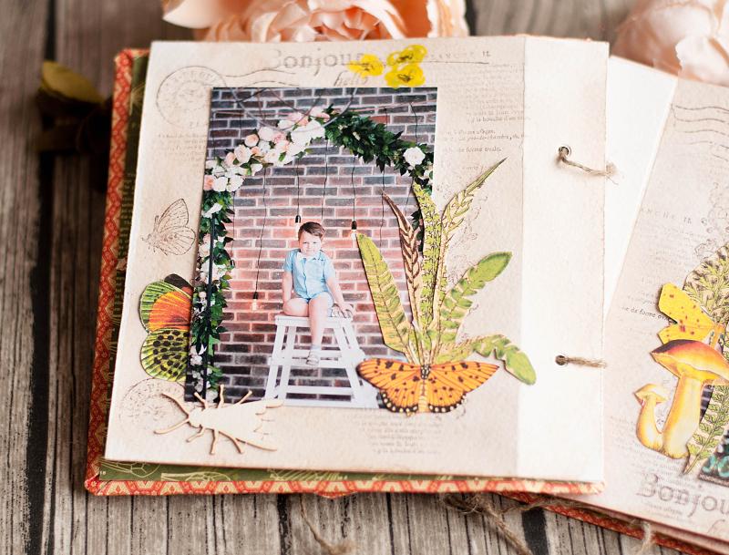 Mini album-Nature Sketchbook- Lena Astafeva-product by Graphic 45-33