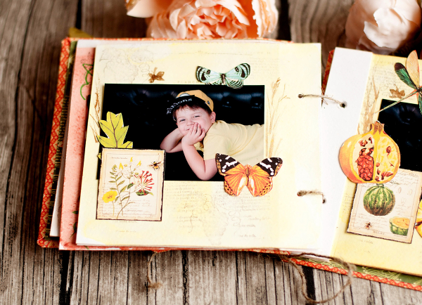 Mini album-Nature Sketchbook- Lena Astafeva-product by Graphic 45-43
