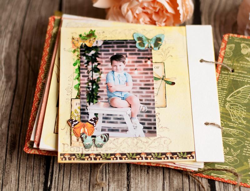 Mini album-Nature Sketchbook- Lena Astafeva-product by Graphic 45-45