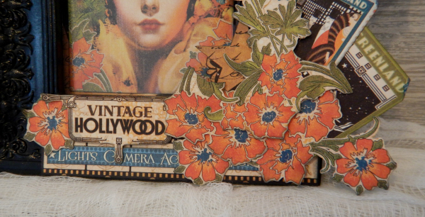 Vintage Hollywood Frame  Vintage Hollywood  Tutorial By Katelyn Grosart  Product by Graphic 45  Photo 5