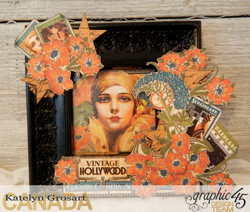 Vintage Hollywood Frame  Vintage Hollywood  Tutorial By Katelyn Grosart  Product by Graphic 45  Photo 1