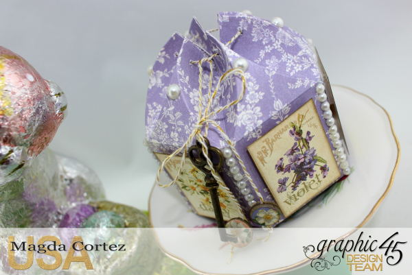 Easter Little Treat Boxes - Secret Garden - By Magda Cortez - Product of Graphic 45 - Photo 04 of 06 - Project with Tutorial