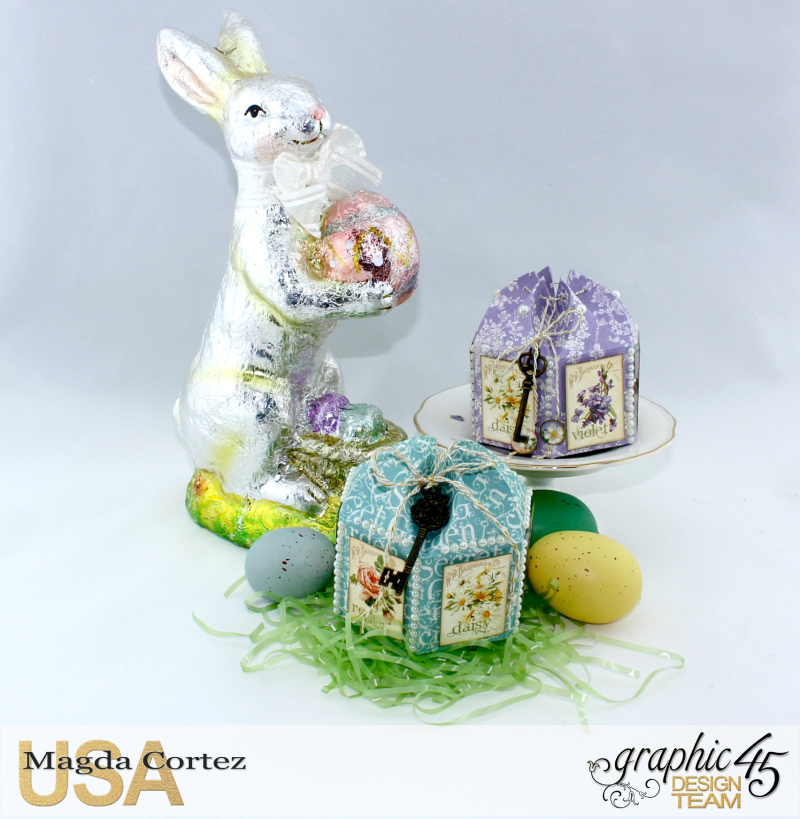Easter Little Treat Boxes - Secret Garden - By Magda Cortez - Product of Graphic 45 - Photo 01 of 06 - Project with Tutorial