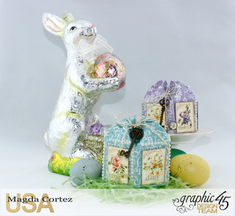 Easter Little Treat Boxes - Secret Garden - By Magda Cortez - Product of Graphic 45 - Photo 06 of 06 - Project with Tutorial