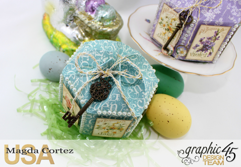 Easter Little Treat Boxes - Secret Garden - By Magda Cortez - Product of Graphic 45 - Photo 02 of 06 - Project with Tutorial