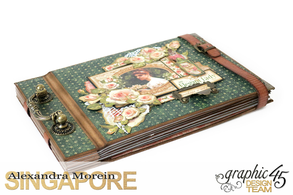 Mini Album  A Portrait of a Lady  Tutorial by Alexandra Morein  Product by Graphic 45  Photo 20