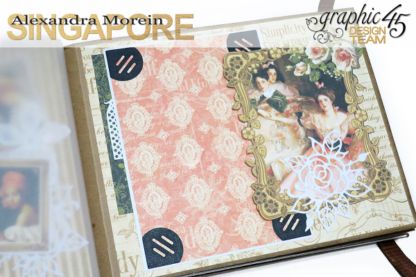 Mini Album  A Portrait of a Lady  Tutorial by Alexandra Morein  Product by Graphic 45  Photo 9