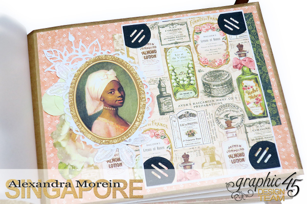 Mini Album  A Portrait of a Lady  Tutorial by Alexandra Morein  Product by Graphic 45  Photo 13