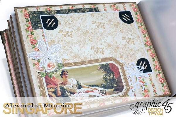 Mini Album  A Portrait of a Lady  Tutorial by Alexandra Morein  Product by Graphic 45  Photo 14