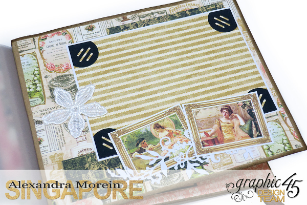 Mini Album  A Portrait of a Lady  Tutorial by Alexandra Morein  Product by Graphic 45  Photo 17