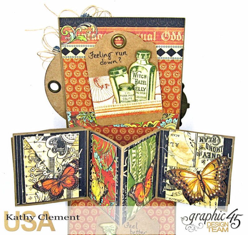 Feeling Run Down Get Well Pop Up Card  Olde Curiosity Shoppe  by Kathy Clement  Product by Graphic 45  Photo 8