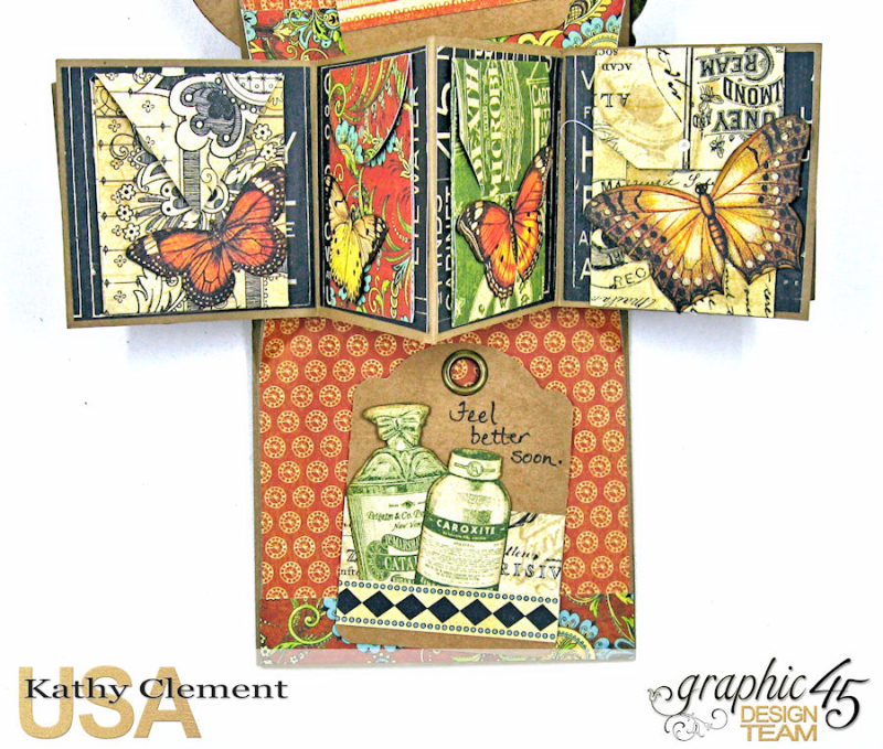 Feeling Run Down Get Well Pop Up Card  Olde Curiosity Shoppe  by Kathy Clement  Product by Graphic 45  Photo 7