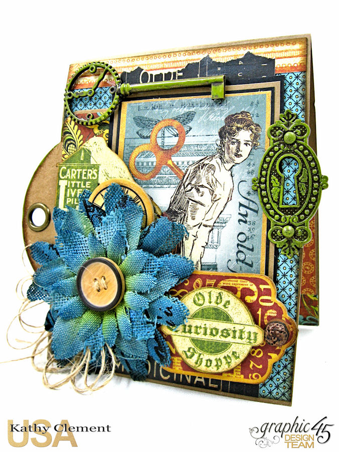 Feeling Run Down Get Well Pop Up Card  Olde Curiosity Shoppe  by Kathy Clement  Product by Graphic 45  Photo 3