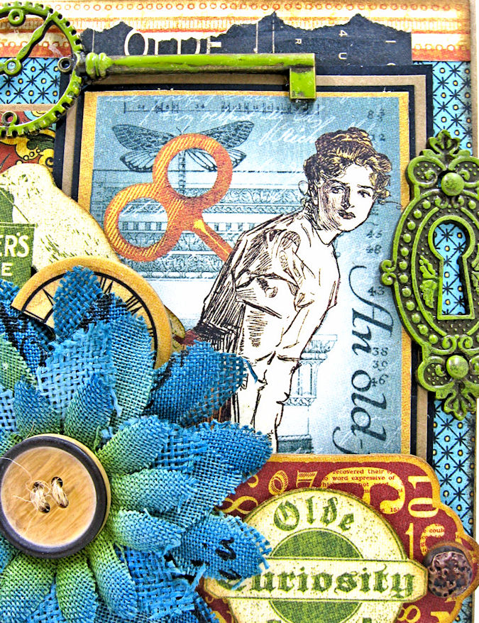 Feeling Run Down Get Well Pop Up Card  Olde Curiosity Shoppe  by Kathy Clement  Product by Graphic 45  Photo 5