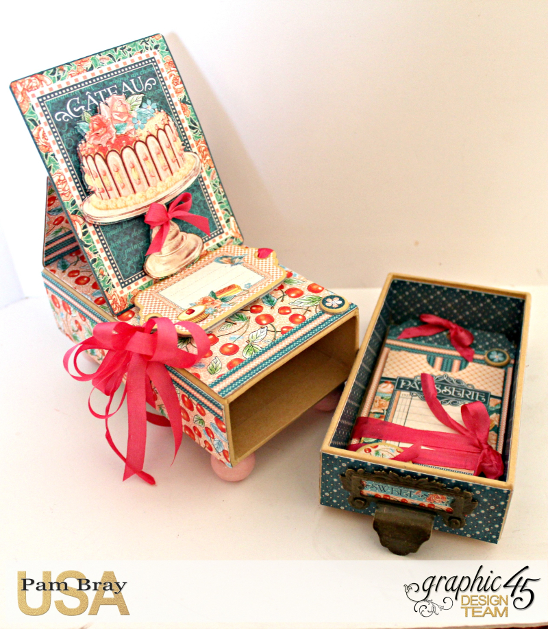 Graphic 45 Café Parisian Gift Box and Card by Pam Bray Photo 3_3980