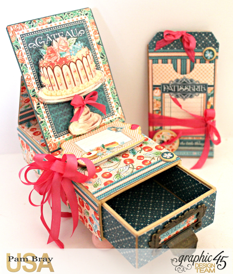 Graphic 45 Café Parisian Gift Box and Card by Pam Bray Photo 4_3981