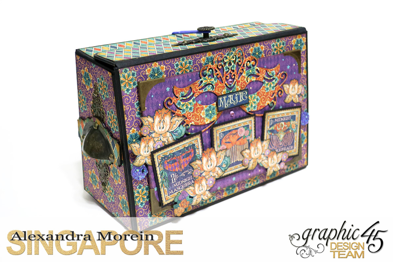 Midnight Masquerade Photo Storage Box  Tutorial by Alexandra Morein  Product by Graphic 45  Photo 3