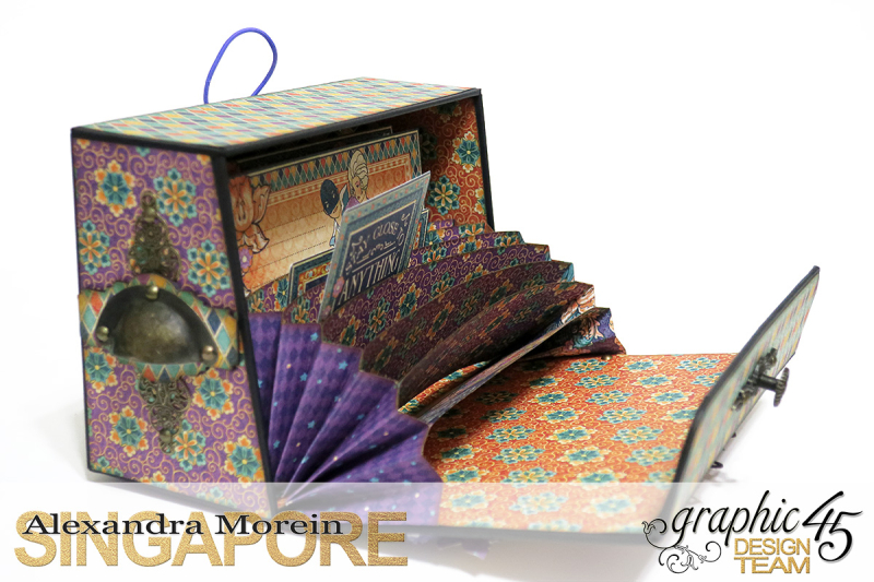 Midnight Masquerade Photo Storage Box  Tutorial by Alexandra Morein  Product by Graphic 45  Photo 6