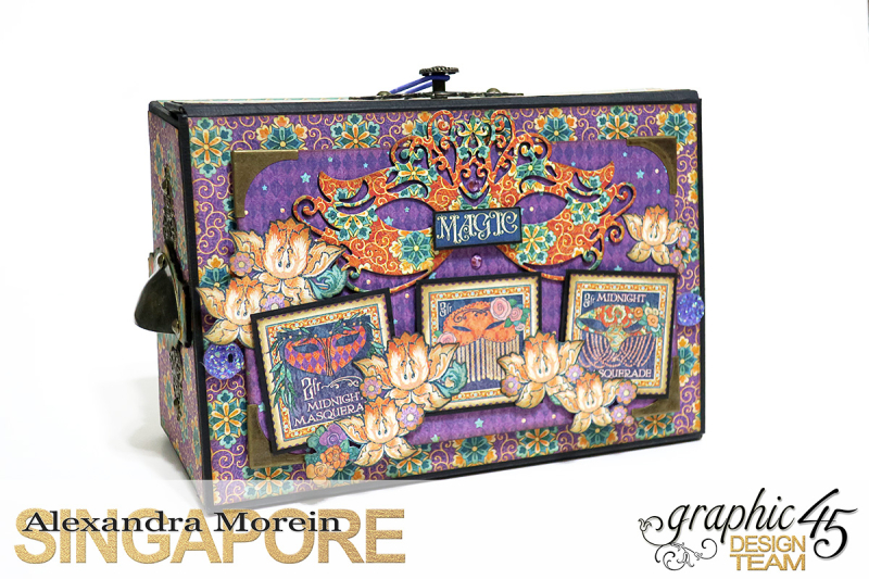 Midnight Masquerade Photo Storage Box  Tutorial by Alexandra Morein  Product by Graphic 45  Photo 1