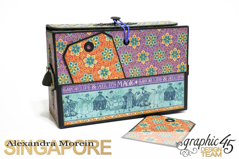 Midnight Masquerade Photo Storage Box  Tutorial by Alexandra Morein  Product by Graphic 45  Photo 5