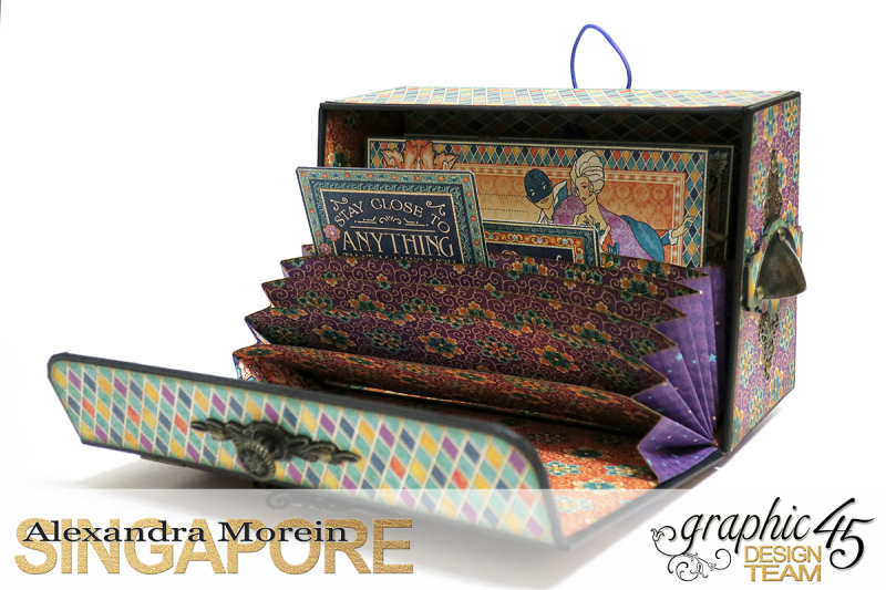 Midnight Masquerade Photo Storage Box  Tutorial by Alexandra Morein  Product by Graphic 45  Photo 7