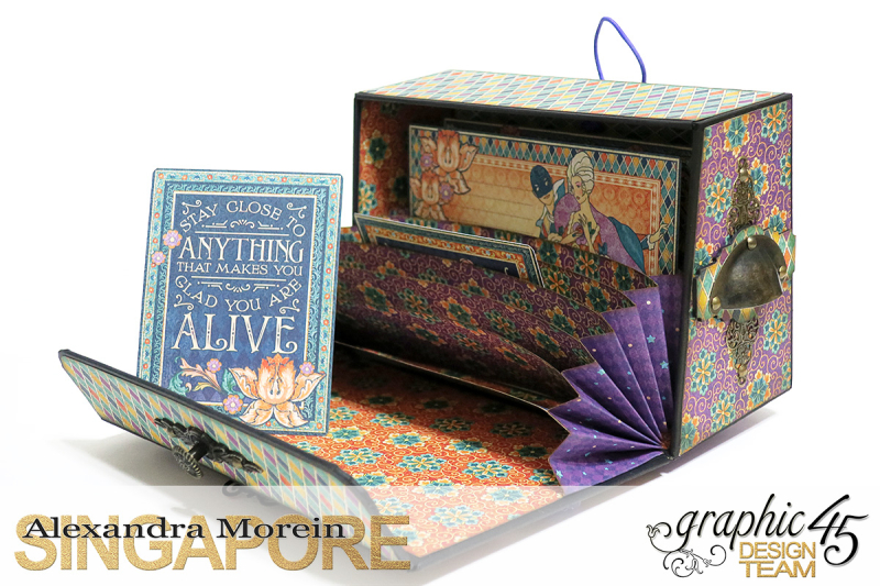 Midnight Masquerade Photo Storage Box  Tutorial by Alexandra Morein  Product by Graphic 45  Photo 8