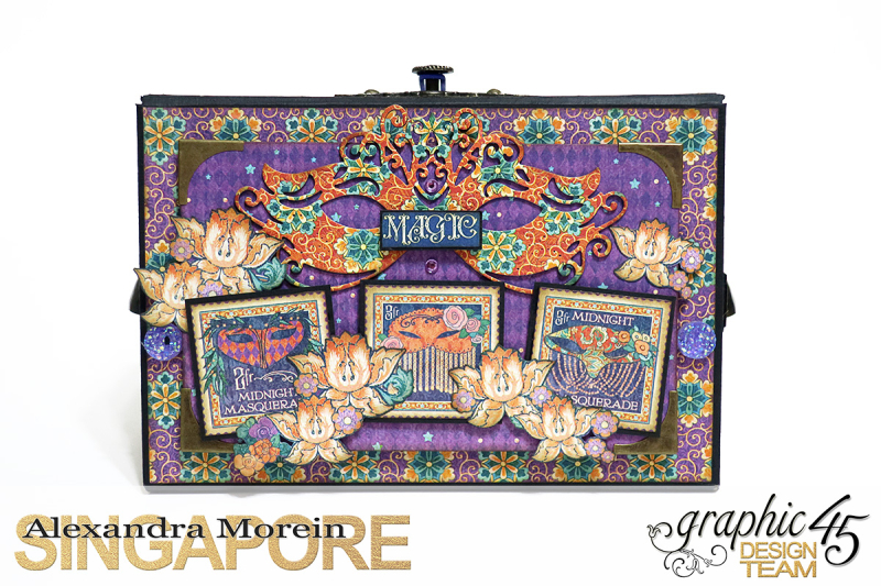 Midnight Masquerade Photo Storage Box  Tutorial by Alexandra Morein  Product by Graphic 45  Photo 2