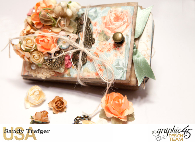 Paper Bag Mini Album  Secret Garden  Tutorial by Sandy Trefger  Product by Graphic 45  Photo 001