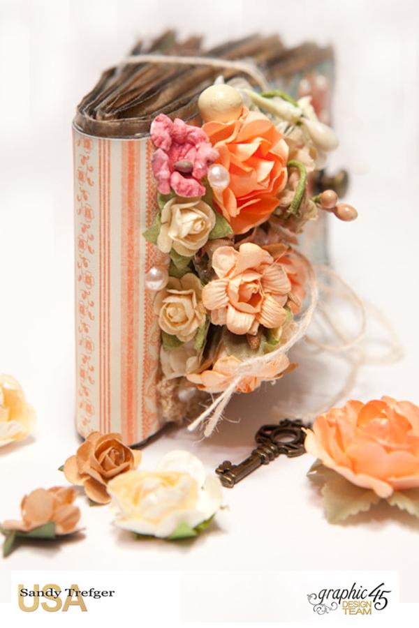 Paper Bag Mini Album  Secret Garden  Tutorial by Sandy Trefger  Product by Graphic 45  Photo 003