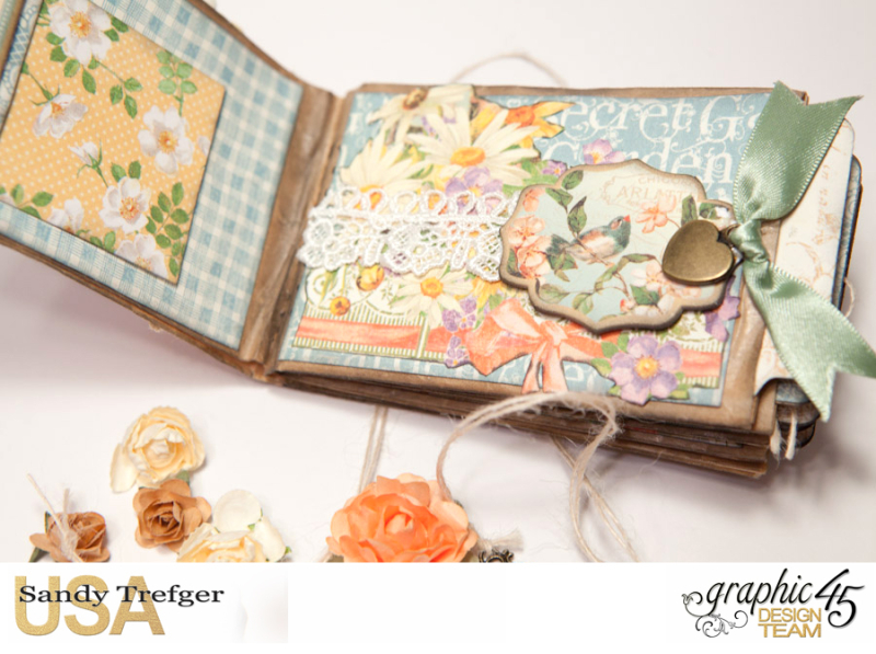 Paper Bag Mini Album  Secret Garden  Tutorial by Sandy Trefger  Product by Graphic 45  Photo 004