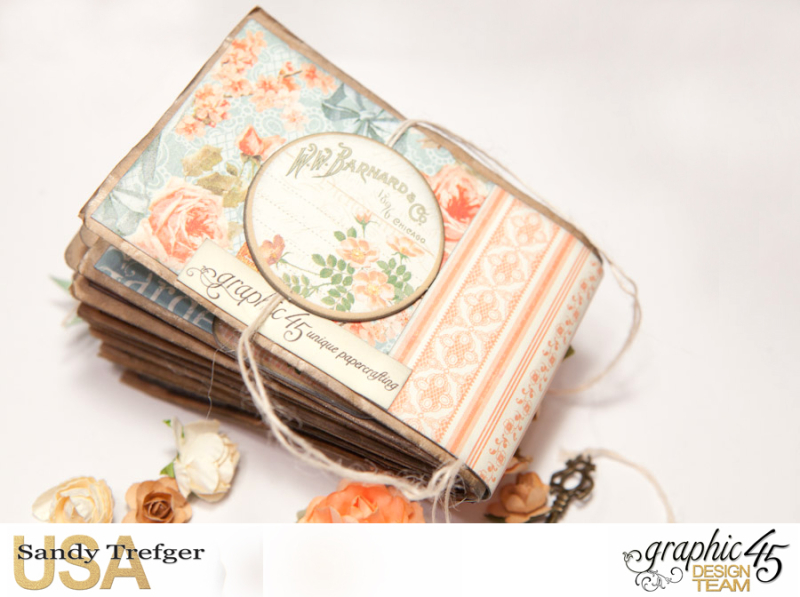 Paper Bag Mini Album  Secret Garden  Tutorial by Sandy Trefger  Product by Graphic 45  Photo 012