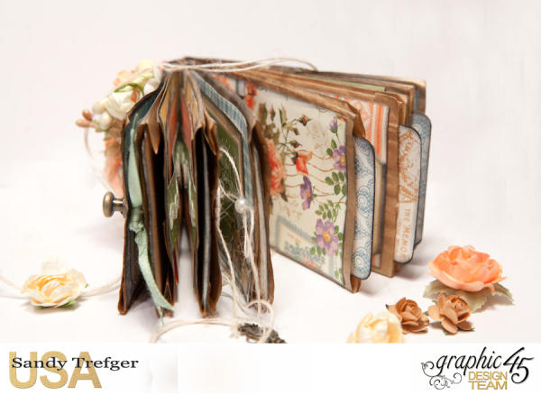 Paper Bag Mini Album  Secret Garden  Tutorial by Sandy Trefger  Product by Graphic 45  Photo 013