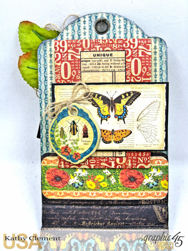 Botanical Butterfly Notepad Tutorial    Nature Sketchbook  by Kathy Clement  Product by Graphic 45  Photo 8