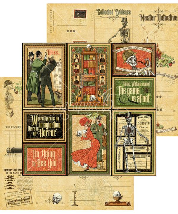 1 Master Detective Ephemera Journaling cards graphic 45