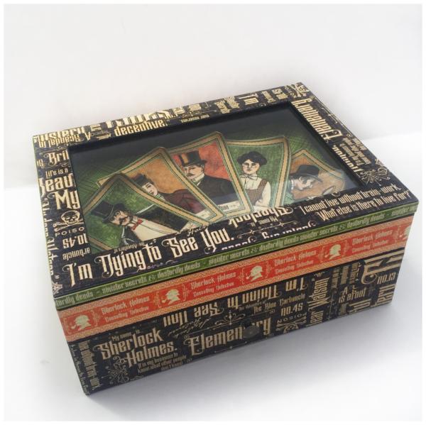Master detective jewelry box shadow box graphic 45 diane schultz