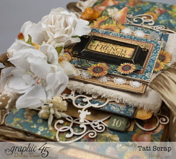 Tati  Recipe Album  French Country  Product by Graphic 45  Photo 2