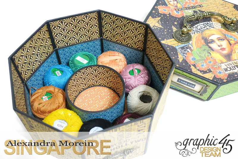 Vintage Hollywood Octagon Box  Project by Alexandra Morein  Product by Graphic 45  Photo 8
