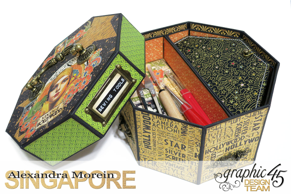 Vintage Hollywood Octagon Box  Project by Alexandra Morein  Product by Graphic 45  Photo 3