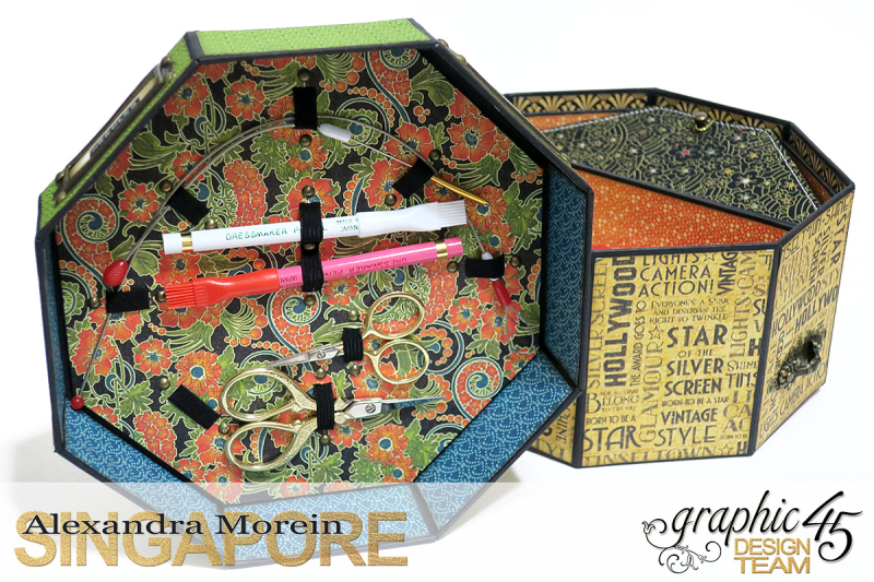 Vintage Hollywood Octagon Box  Project by Alexandra Morein  Product by Graphic 45  Photo 7