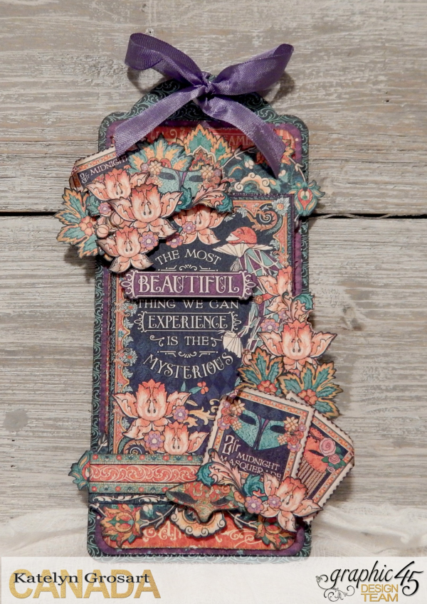 The Most Beautiful Thing We Can Experience Tag  Midnight Masquerade  Tutorial by Katelyn Grosart  Product By Graphic 45  Photo 3